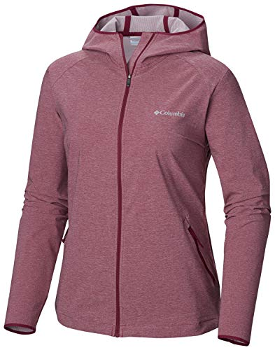 Columbia Softshell Jacke für Damen, HEATHER CANYON SOFTSHELL JACKET, Polyester, Violet (Wine Berry Heather), Gr. XS, 1717991