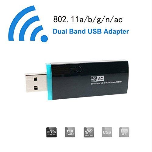 LWD AC 600M USB WiFi adaptador inalámbrico Hotspot tarjeta de red inalámbrica...