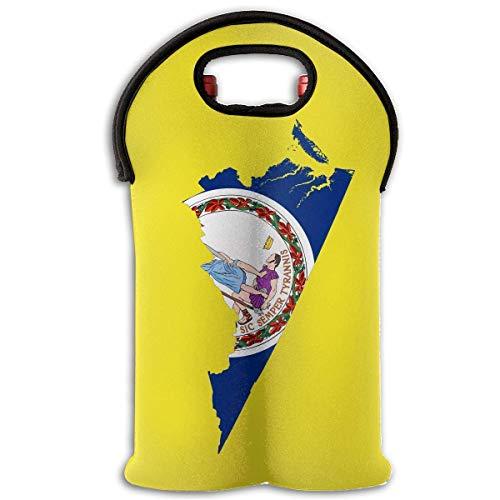 g Two Bottle Wine Carrier Tote Bag Neoprene Wine/Water Bottle Holder Keeps Bottles Protected ()