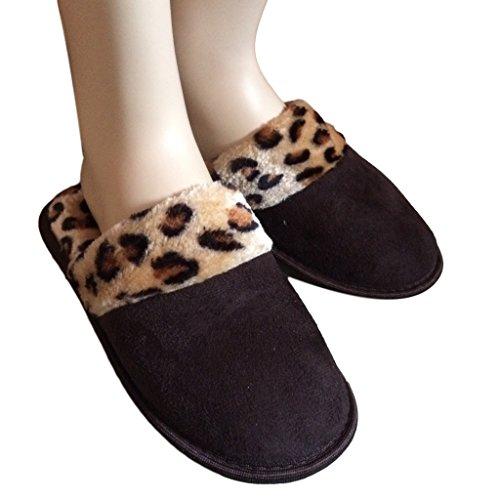 Auswahl von Damen Hausschuhe. Verschiedene Größen/Farben erhältlich Braun/Leopard