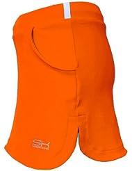 Sportkind Jupe-short de tennis / hockey sur gazon / course à pied pour fille et femme en orange tailles 4 ans à L
