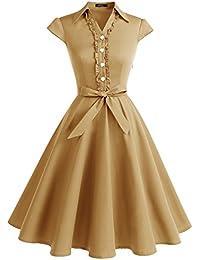Wedtrend Robe Vintage 50 s 60 s Style Audrey Hepburn avec Boutons de cœur 8b4bbb5b5