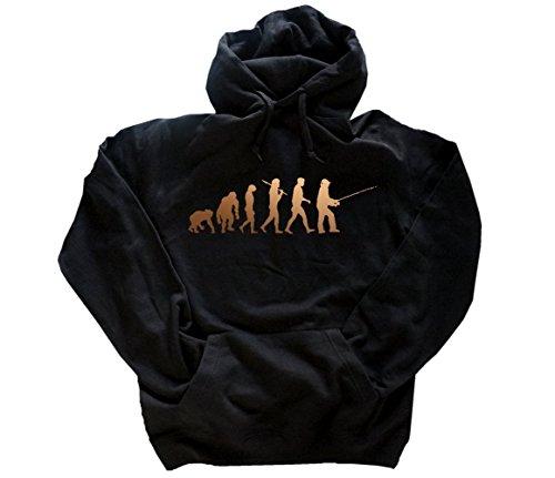 Deluxe Edition Angler I Angel Angeln Fischen Evolution Hoody Kapuzensweatshirt