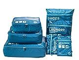 BOTTA DESIGN Packwürfel für Reise -7 Sets Packing Cubes Koffer-Organizer Aufbewahrungstasche wasserdicht und leichtgewichtig - Koffer Kompressionsbeutel (Dark blau)
