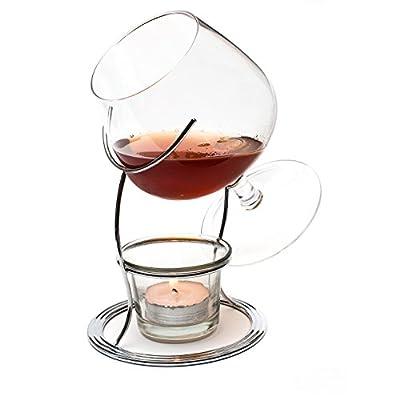 Ckb Ltd Brandy Cognac Snifter Warmer Brandy Glser Cognacglser Schwenker Brandy Glas Stand Gift Set Wrm Stnder Teelicht Teelichthalter