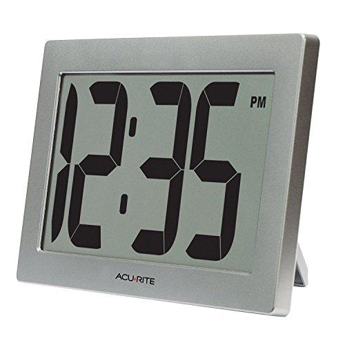 Ziffer Batterie (AcuRite 7510224,1cm groß Digital Uhr mit 9,5cm Ziffern und intelli-time Technologie)