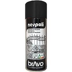 AEROSOL Peinture Noir - Peinture Pro à effet Métallisé - 400ml