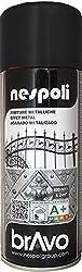 Peinture en bombe pour un effet métallisé de couleur noir, adapté pour métal, bois, plâtre, pour portes, rampes, portails, grilles métalliques, armoirs métalliques, meubles de jardin. S'applique facilement sur tous les supports à l'intérieur comme à...
