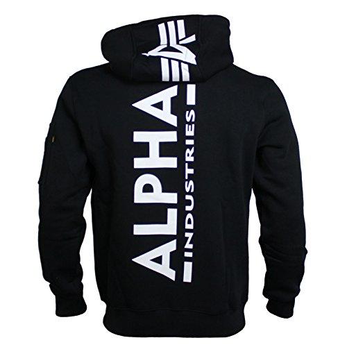 Alpha Industries Sweatshirt Back Print Hoody Black Größe XXL -
