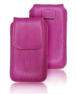 Handytasche mit Rueckzugfunktion Imitation Snake - Farbe Pink Für Sharp GX17