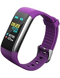 LONGQI - Reloj inteligente con pantalla LED para rastreador de actividad física, frecuencia cardíaca, podómetro, monitor de actividad física