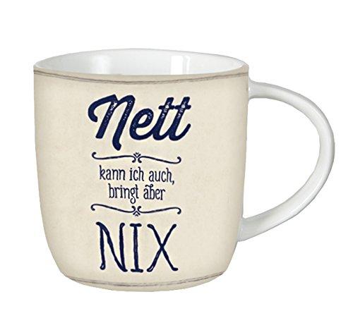 GRAFIK WERKSTATT // Tasse // Nett kann ich auch, bringt aber nix! // 12,5 x 9,5 cm // 365g // VintageArt (Grafik Firma)