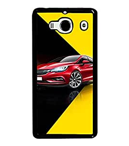 PrintVisa Designer Back Case Cover for Xiaomi Redmi 2 :: Xiaomi Redmi 2S :: Xiaomi Redmi 2 Prime (Red Car With Black And Yellow Background)