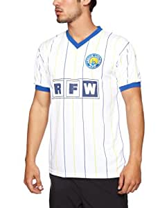 Score Draw Official Retro Leeds United 1982 Men's Retro Football Shirt - White, Large