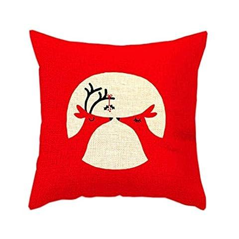 Étui D'oreiller de Noël, Famille Housse D'oreiller pour Noël Décoration (45cm*45cm, C)