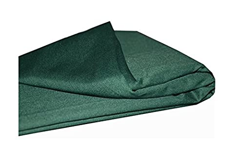 Plain Polyester Cotton Twill Fabric Clothing Craft, 1 Meter Length x 60 inch Wide, Forest Green
