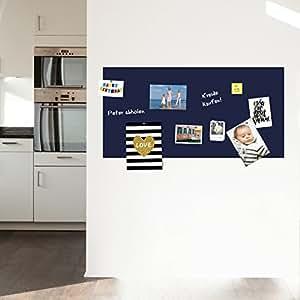 selbstklebende magnetische Tafelfolie Wandtafel Kreidetafel - blau 100x50 inkl. 2 Kreidestiften