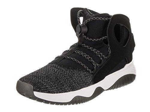 Nike Herren Luft Flight Huarache Ultra schwarz/schwarz/weiß/ Volt Basketball Schuhe 9.5 Herren US - Flight Basketball-schuhe Nike Herren