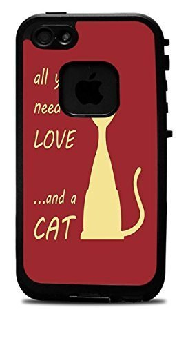 All You Need Is Love and A CAT Red Background Vinyl Decal Sticker For SamSung Galaxy Note 3 Phone Case Cover Lifeproof Case