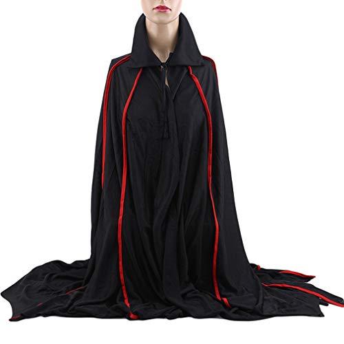 Sevenfly Halloween Weihnachtsfeier Vampir Umhang Cosplay Kostüm Robe Cape (schwarz)