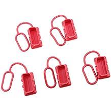 Dolity 5x Cubierta Tapón de Polvo para alta Interconexión de Corriente Telecomunicaciones - Rojo