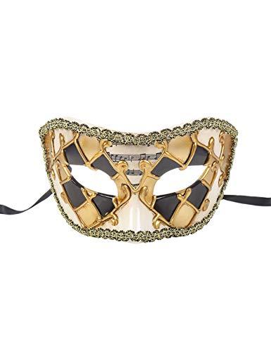 TAAMBAB Venezianische Maske Im Klassischen Stil Mens Woman Kostüme Mardi Gras Mask Partei Maskerade Maske Griechisch Römische Halloween Maske Karneval Maske für Hochzeitsfeier Kostümzubehör (Womens Halloween-kostüme Klassische)