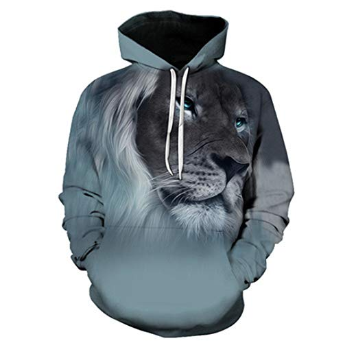 3D Animal Hoodies Print Men/Women Harajuku Sweatshirt Casual Graphics Pullover Hoody S-6XL LMS016 XXXL -