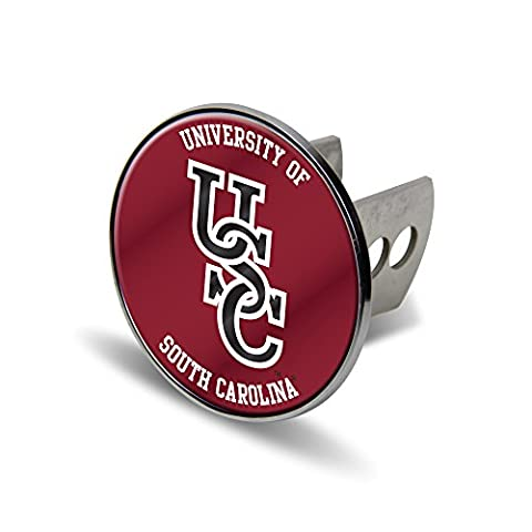 NCAA South Carolina Fighting Gamecocks Laser Cut Metal Hitch Cover, Large, Silver