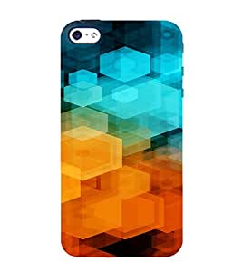 PrintVisa Color Block Prisma Pattern 3D Hard Polycarbonate Designer Back Case Cover for Apple iPhone 4 :: 4S