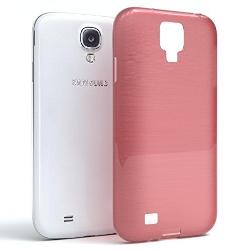 Samsung Galaxy S4 / S4 Neo Hülle - EAZY CASE Ultra Slim Cover TPU Handyhülle Matt - dünne Schutzhülle aus Silikon in Dunkelblau Brushed Rosa