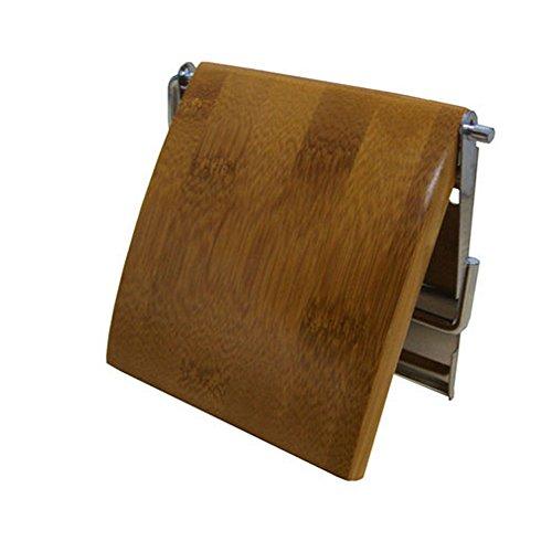 WC-Rollenhalter aus Bambus und Edelstahl