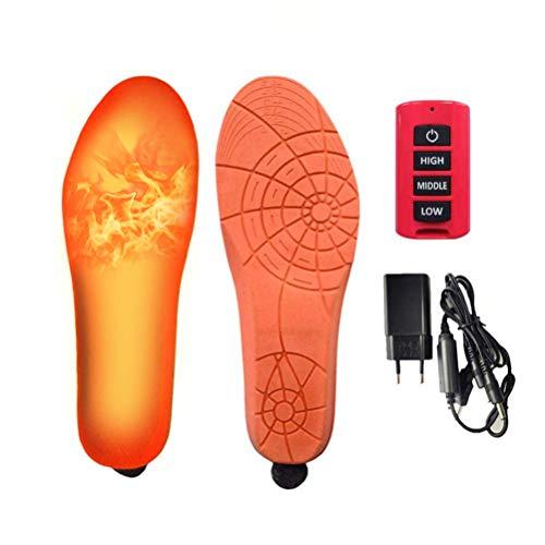 Egosy Wiederaufladbare beheizte Einlegesohle Erwärmung im Winter elektrische Heizkissen Fußwärmer Sohlenwärmer Wärmesohle Schuhheizung