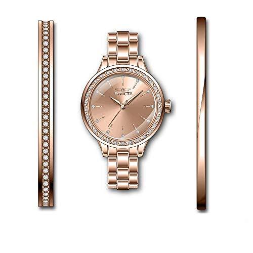 Invicta Angel Reloj de Mujer Cuarzo analógico Correa y Caja de Acero 29315
