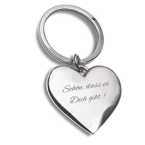 Schlüsselanhänger Herz silber mit Gravur