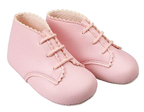 Mädchen Baby Schuhe Baypods erste Kinderwagen-Schnürstiefel-Design Pink Matt