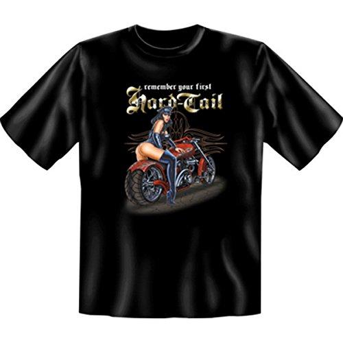 Biker & Motorrad T-Shirt geil bedruckt / Hard Tail ! Schwarz