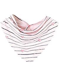s.Oliver Baby Tuch / Halstuch mit Druckknopf Größe 62-92 in rosa melange gestreift 41W0 65.707.91.2795
