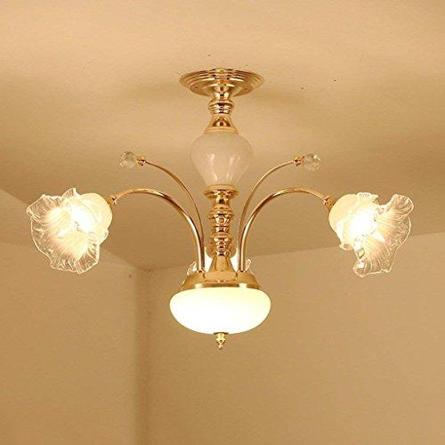 Drei Licht-wand-streifen (XQY Haushalts-Leuchter, Kristallpalast-Deckenlampe, Schmiedeeisen-Wand-Lampe heiße Luxuxeuropäische Leuchter-Arm-Leuchter, Wohnzimmer-Luxus-Lampen Lüster De Chandeliers,Warmes Licht - DREI Licht)