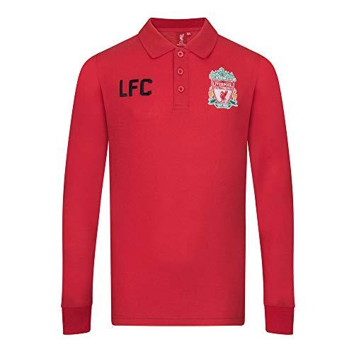 082974e5b Liverpool FC - Maglietta ufficiale a maniche lunghe - Per i ragazzi - Rosso  - 12