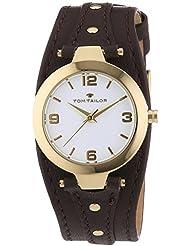 TOM TAILOR Damen-Armbanduhr XS Analog Quarz Leder 5413102