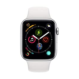 Apple Watch Series 4 (GPS, 44mm) Cassa in Alluminio Argento e Cinturino Sport Bianco