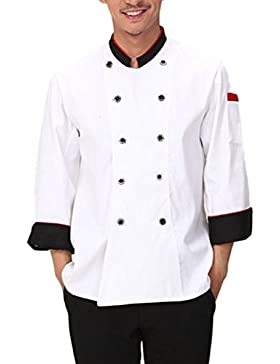 Zhuhaitf Alta calidad Whites Unisex Long Sleeve Uniform Tops Chefs Working Clothes
