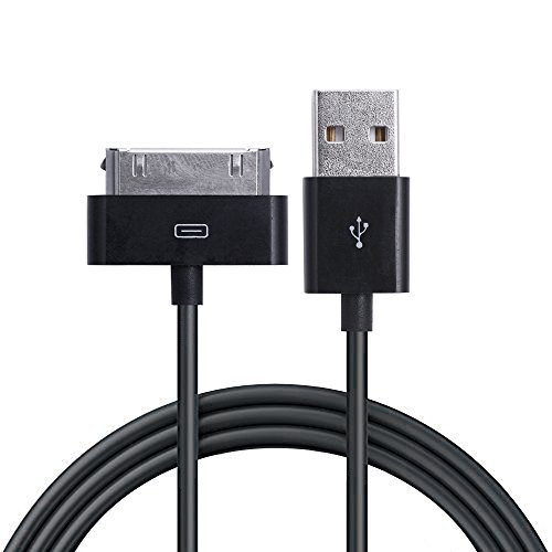 iprotect USB Ladekabel Datenkabel 1 Meter schwarz für Apple iPhone und iPod 4S 4 3GS Classic Touch Nano 3G 2G Photo Mini (Usb-kabel Iphone 4s)