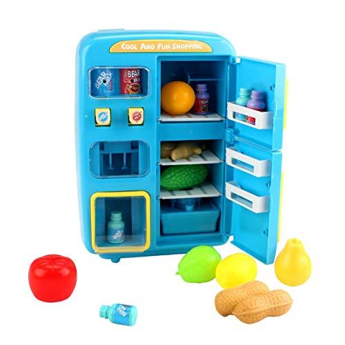 K9CK Nevera de Juguete para Cocina Infantil con 32 Piezas...