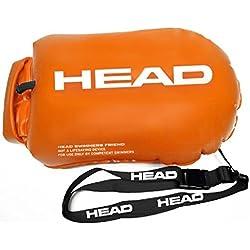 HEAD Saferswimmer-Boya de seguridad para la natación en aguas abiertas con el bolsillo a prueba de agua, orange