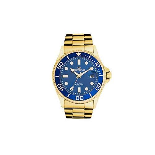 Reloj Automático Lorenz 027006cc Pulsera Acero Gold Azul Hombre Sub