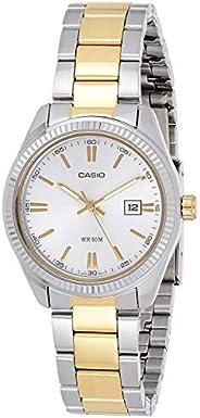 كاسيو ساعة رسمية نساء انالوج بعقارب ستانلس ستيل - LTP1302SG-7AV