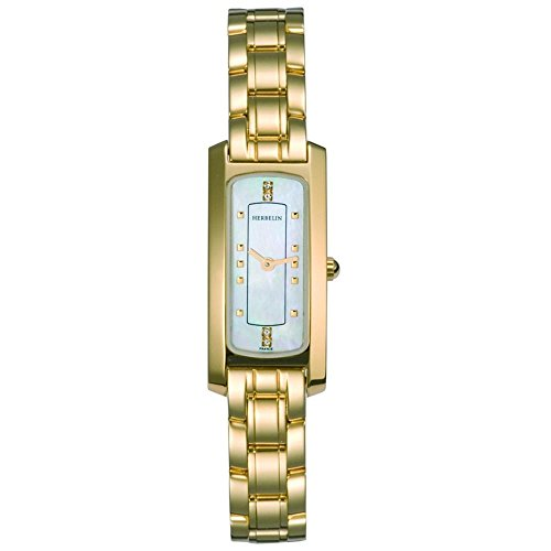 Michel Herbelin Women's Gold-Tone Steel Bracelet & Case Quartz Watch 1064/BP59