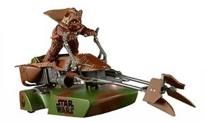 Scalextric C3299 Star Wars - Figura Ewok de Star Wars con vehículo Speeder Bike