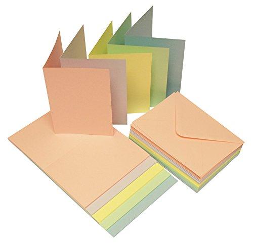 Craft UK 279C6Karte und Umschlag–Pastell (50Stück)